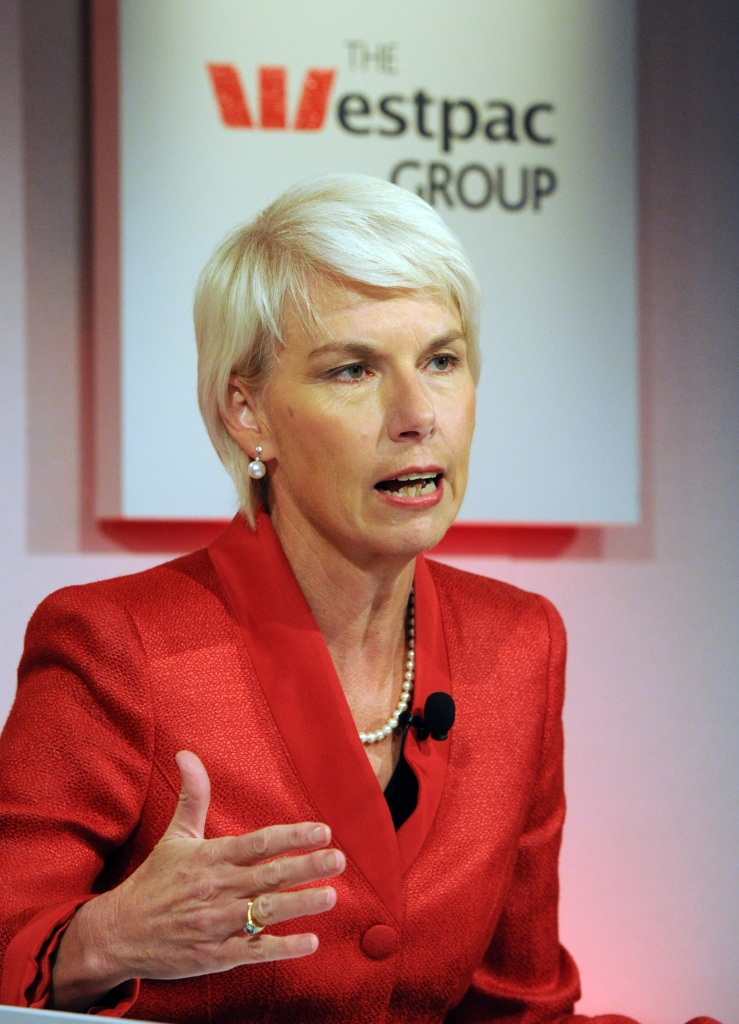 Westpac chief executive Gail Kelly annou